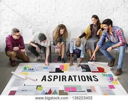 Aspiration Ambition Dream Goal Hope Solution Concept