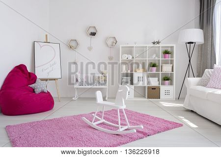 Friendly And Bright Little Girl's Room Interior