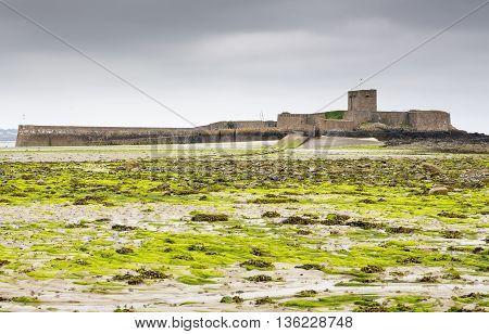 St. Aubin's Fort on Jersey island, UK