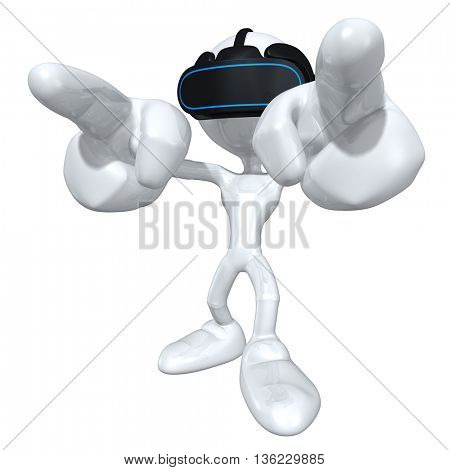 Virtual Reality VR Headset Glasses Goggles Device 3D Illustration