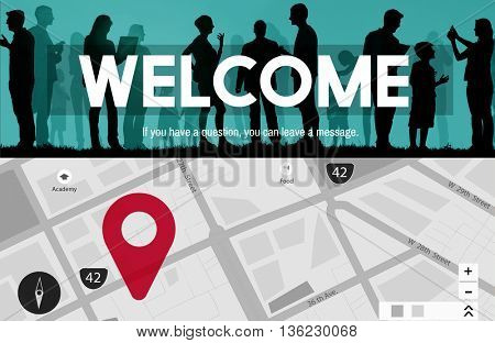 Welcome Greeting Togetherness Variation Social Open Concept