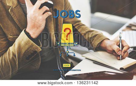 Jobs Occupation Hiring Employment Concept