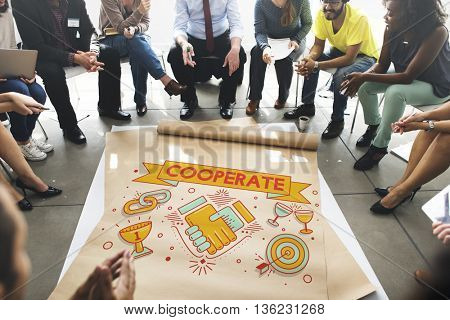 Cooperate Together Team Teamwork Partnership Concept