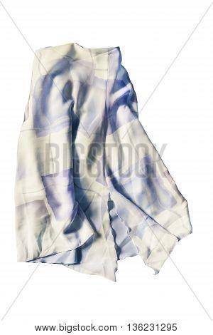 Chiffon skirt pastel colored folded on white background