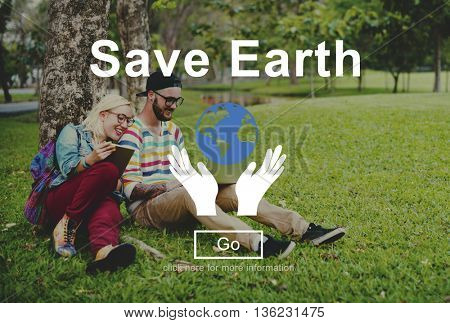 Save Earth Environmental Conservation Eco Concept