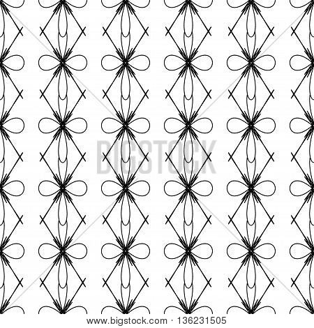 Flower and rhombus seamless pattern.Fashion graphic background design. Modern stylish abstract texture. Monochrome template for prints textiles wrapping wallpaper website etc. VECTOR illustration