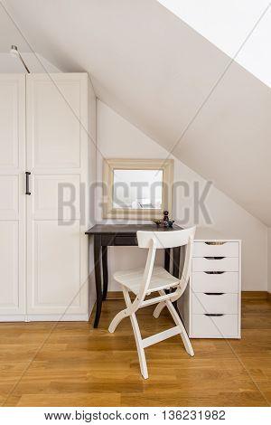 Simple Bedroom Furniture In Light Interior
