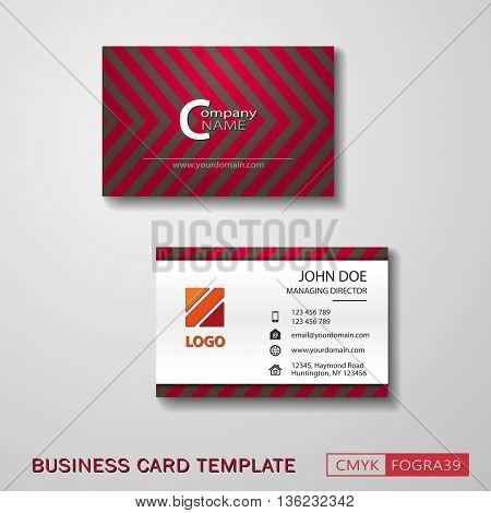 Vcard business card set. Vector EPS10 - CMYK : FOGRA39