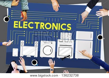 Electronics Capacitor Contemporary Technology Concept