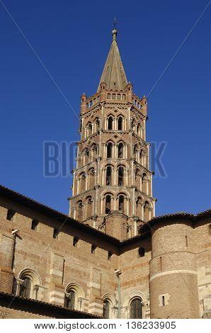 Basilica of Saint Sernin in Toulouse, France