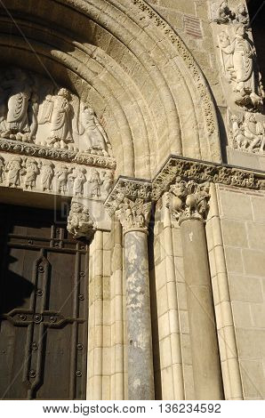 Detail of the door of Saint Sernin, Toulouse, France