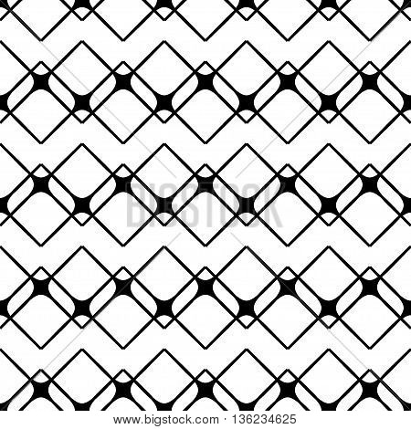Square geometric seamless pattern. Fashion graphic background design. Modern stylish abstract texture Monochrome template for prints textiles wrapping wallpaper website etc. VECTOR illustration