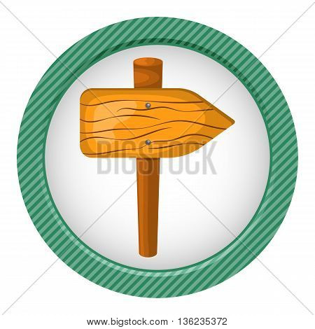 Wooden Sign Colorful Icon