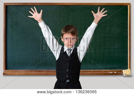Schoolboy At The Blackboard