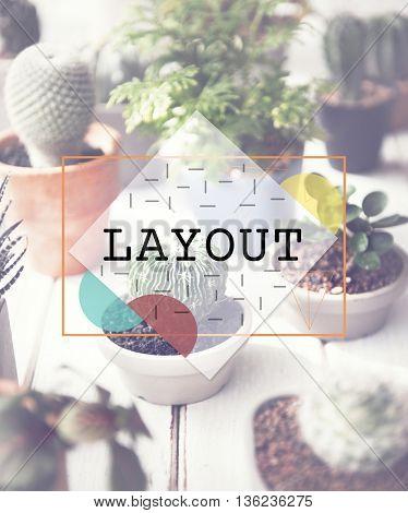 Layout Blueprint Design Editing Printing Art Concept