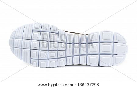 Light running sport shoe's sole isolated over the white background
