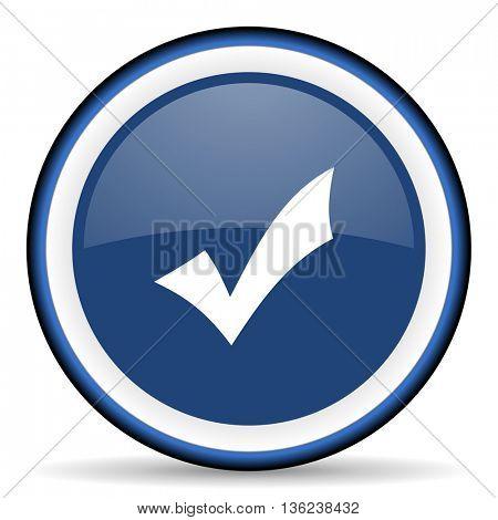 accept round glossy icon, modern design web element
