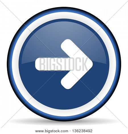 right arrow round glossy icon, modern design web element