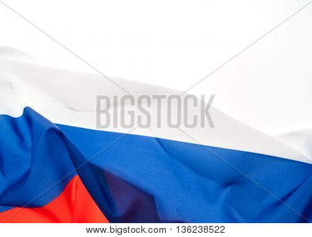 Flags of Russia on white background