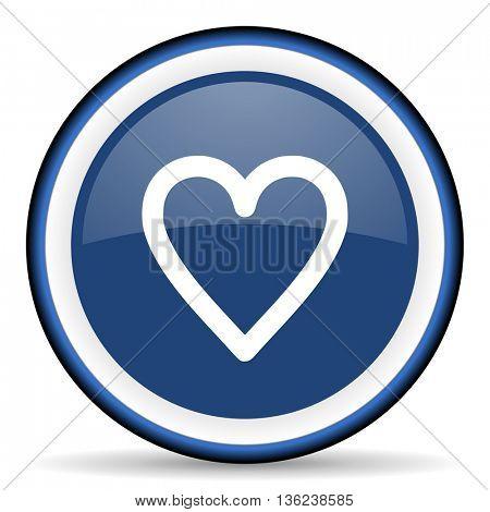 heart round glossy icon, modern design web element
