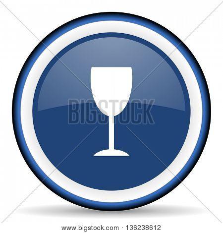 alcohol  round glossy icon, modern design web element
