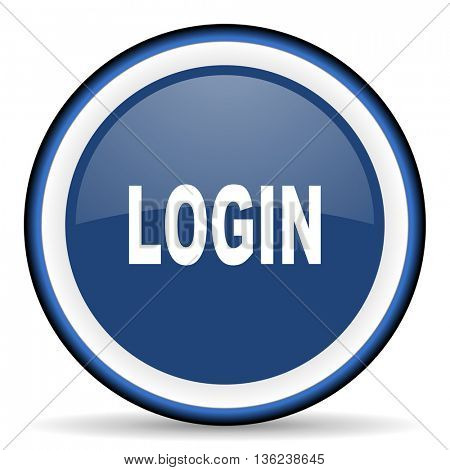 login round glossy icon, modern design web element