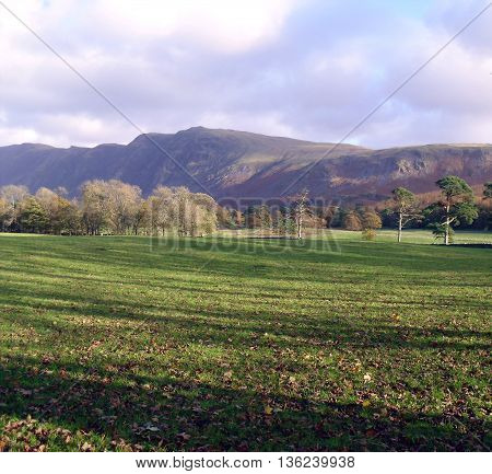 Field With Shadows in Lake District, Cumbria