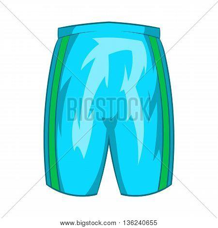 Sports shorts icon in cartoon style isolated on white background. Clothing symbol