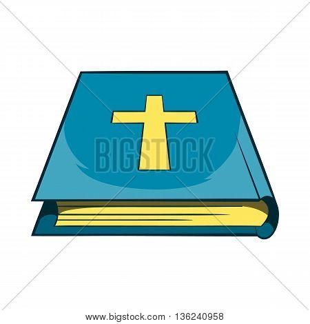 Book Of the Bible icon in cartoon style isolated on white background. Books and religion symbol