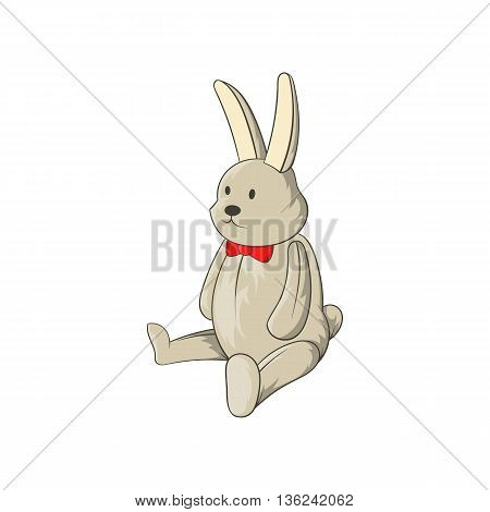 Toy bunny icon in cartoon style isolated on white background. Children toy symbol