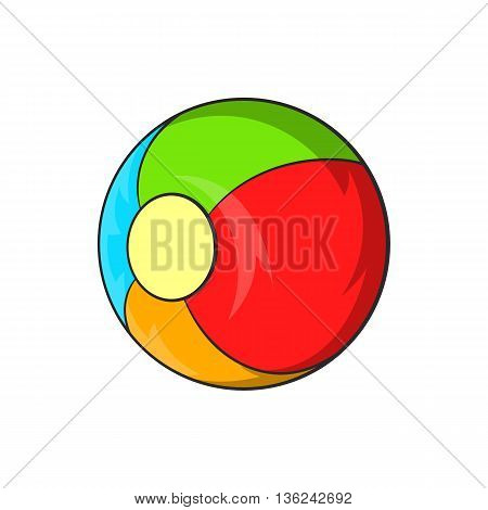 Children ball icon in cartoon style isolated on white background. Games and toys symbol