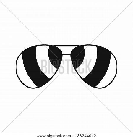 Glasses icon in simple style isolated on white background