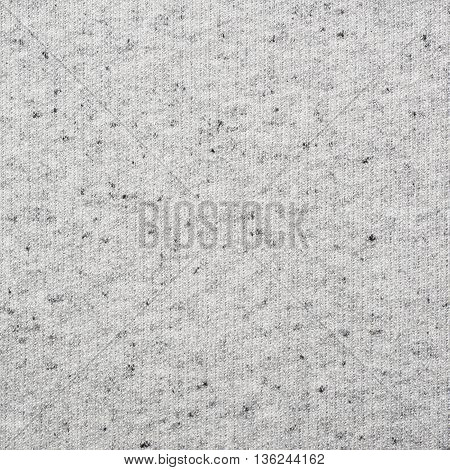 Fragment of a gray cotton cloth fabric material texture as an abstract background composition