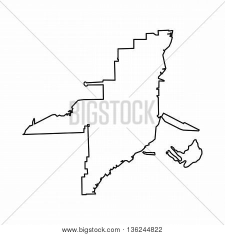 Florida map icon in outline style isolated on white background
