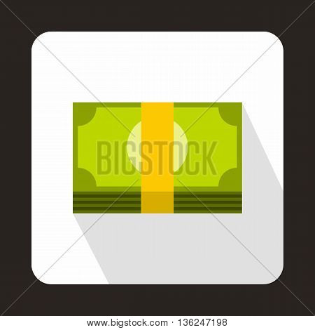 Swiss Franc banknote icon in flat style on a white background