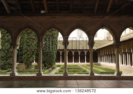 Cloister of the Jacobins Church in Toulouse, France