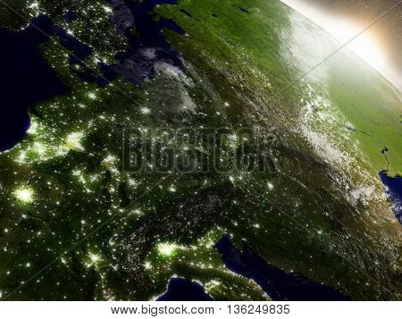 Sunrise Over Central Europe