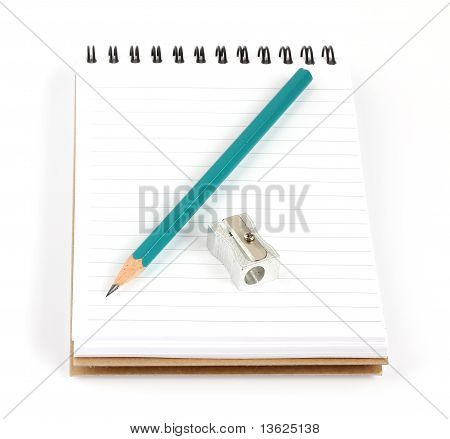 Notebook Pencil And Sharpener