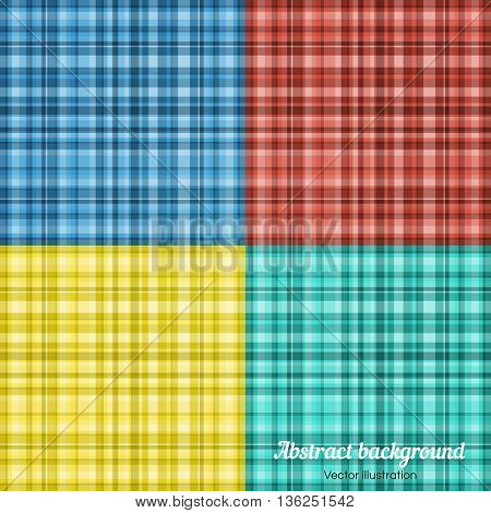 Set of colorful Plaid Pattern. Vector Plaid Pattern