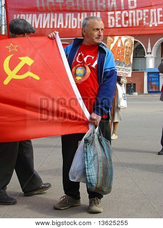 Man With Soviet Union Flag