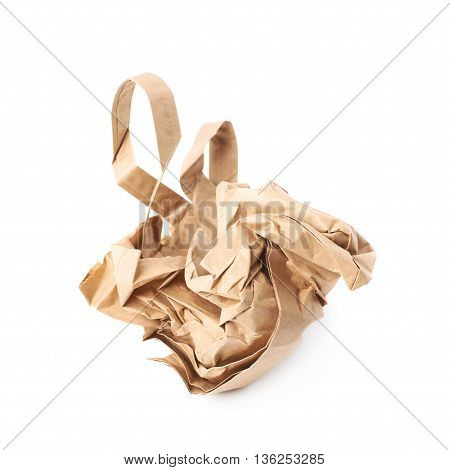 Crumbler paper bag isolated over the white background