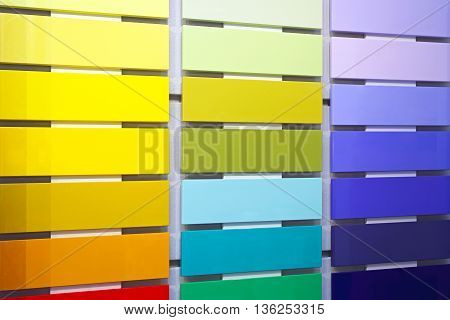 Modern Color Swatch Wood Paint Material Samples