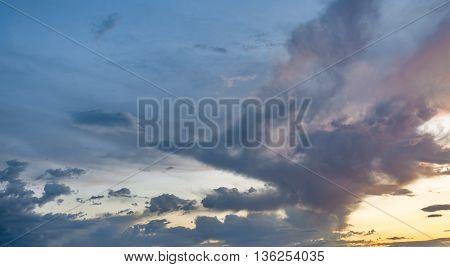 Sunset Clouds Background