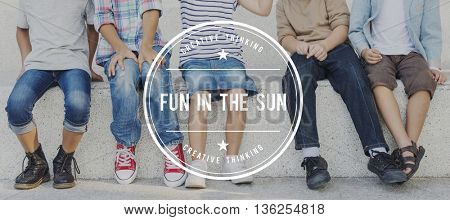 Fun in the Sun Relaxation Holiday Vacation Pleasure Concept
