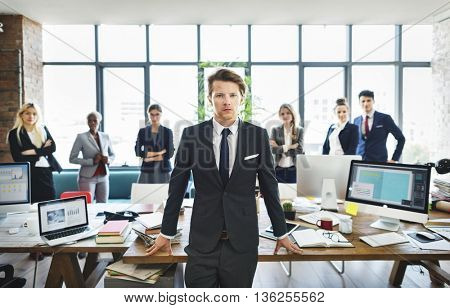 Officer Worker Colleagues Teamwork Management Concept