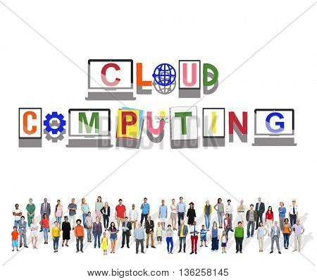 Cloud Computing Database Server Network Concept