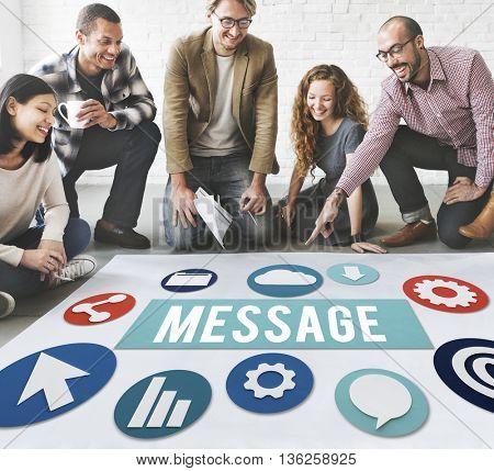Business Message  Brainstorm Concept