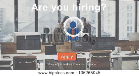 Are you hiring? Job Career Human Resources Concept