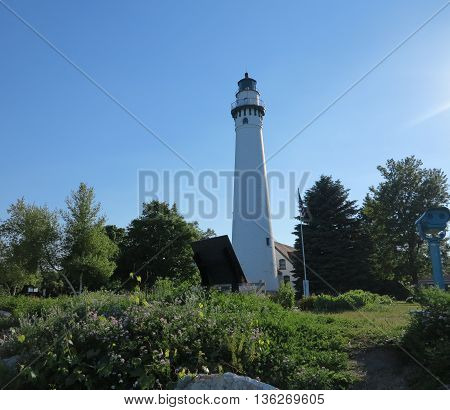 Wind Point Lighthouse in the Racine, Wisconsin area