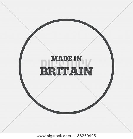 Made in Britain icon. Export production symbol. Product created in UK sign. Round button with flat icon. Vector